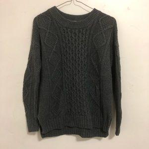 Madewell gray chunky knit sweater